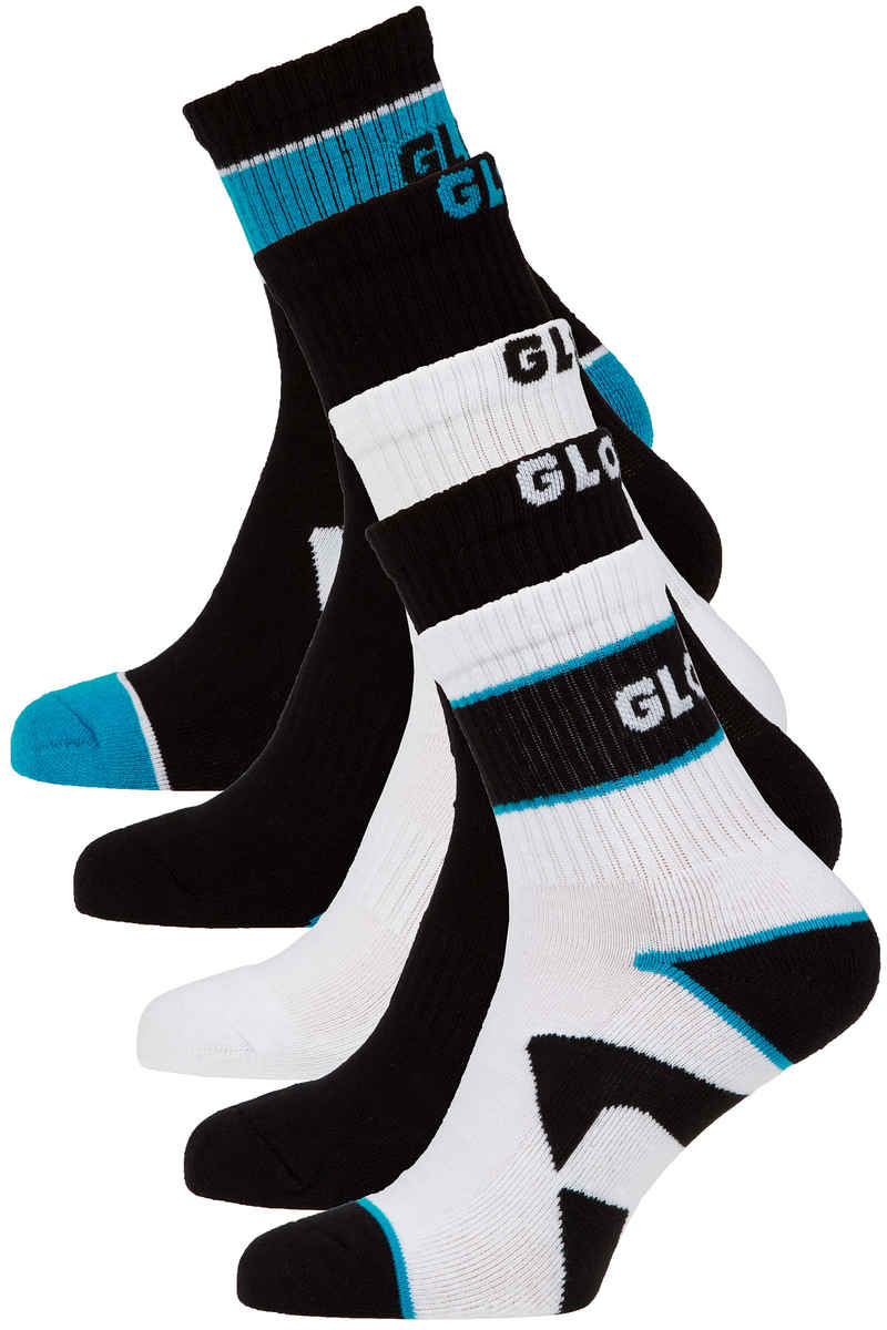Globe Destroyer Socks US 7-11 (black) 5 Pack