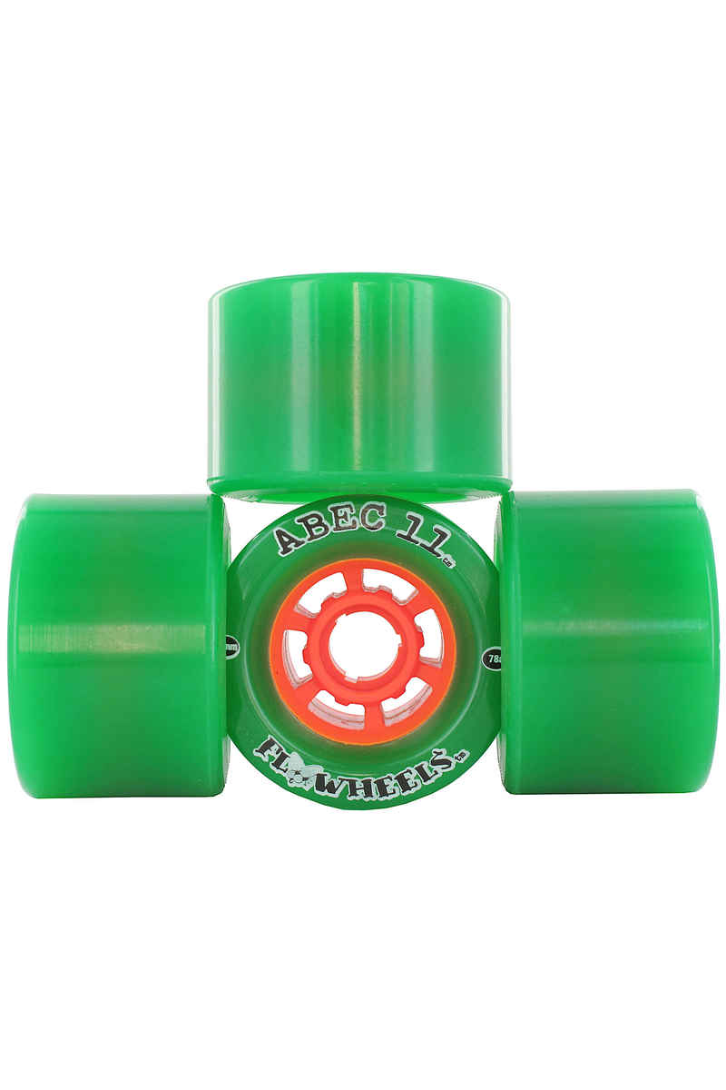 ABEC 11 Flywheels 76mm 78A Roue (green) 4 Pack