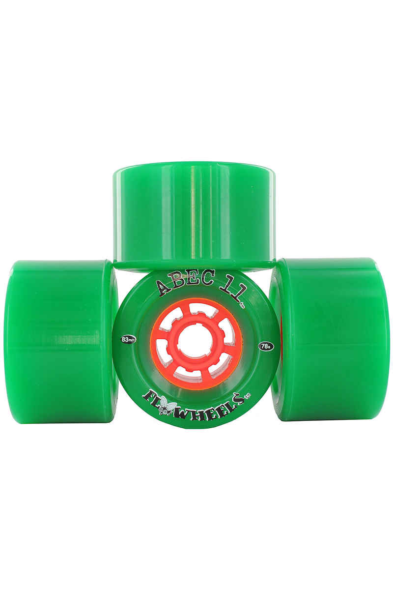 ABEC 11 Flywheels 83mm 78a Roue (green) 4 Pack
