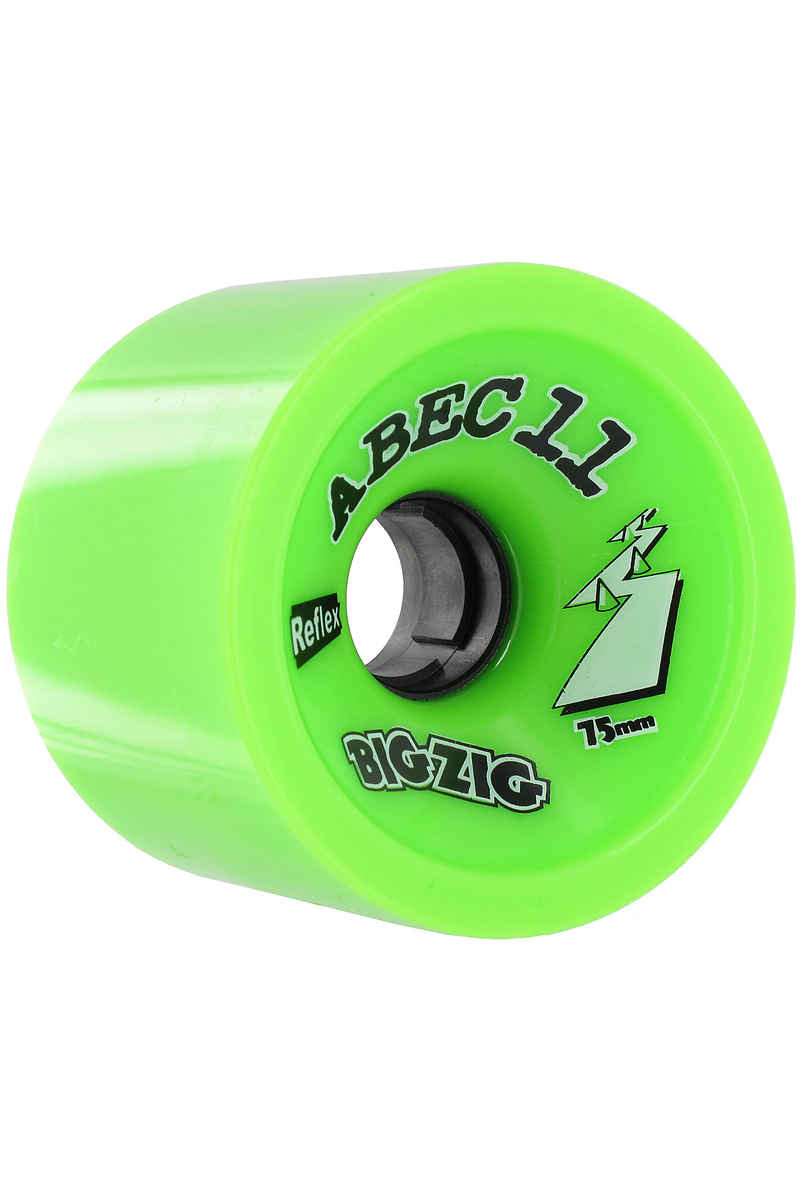 ABEC 11 Retro Big Zigs 75mm 80A Wheel (lime) 4 Pack