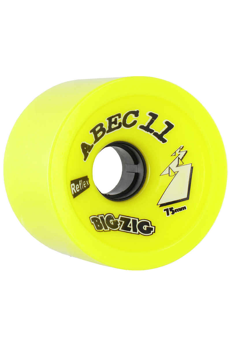 ABEC 11 Retro Big Zigs 75mm 83a Ruote (lemon) pacco da 4