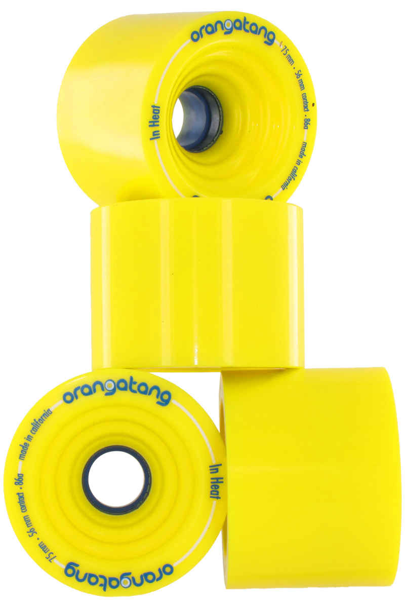 Orangatang In Heat Wheels (yellow) 4 Pack 75mm 86A