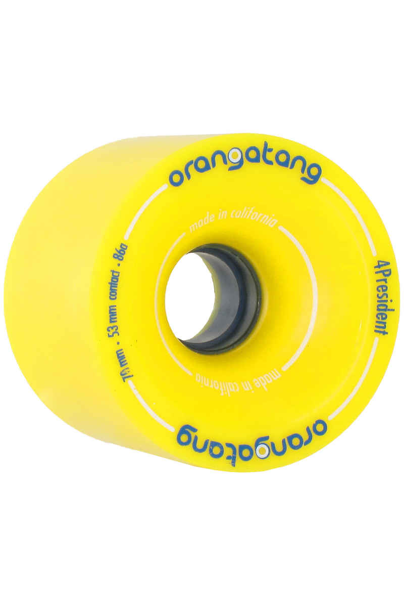 Orangatang 4President Wheels (yellow) 4 Pack 70mm 86A