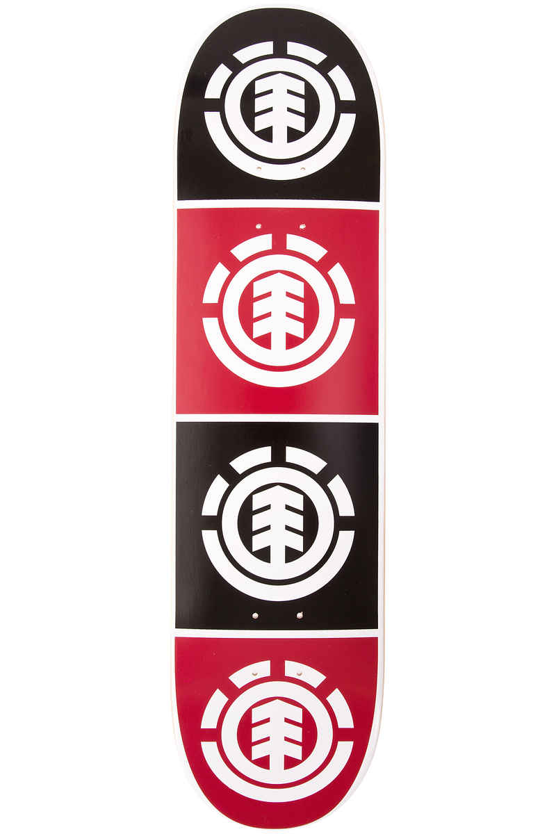 "Element Team Quadrant 8"" Planche Skate (black red)"