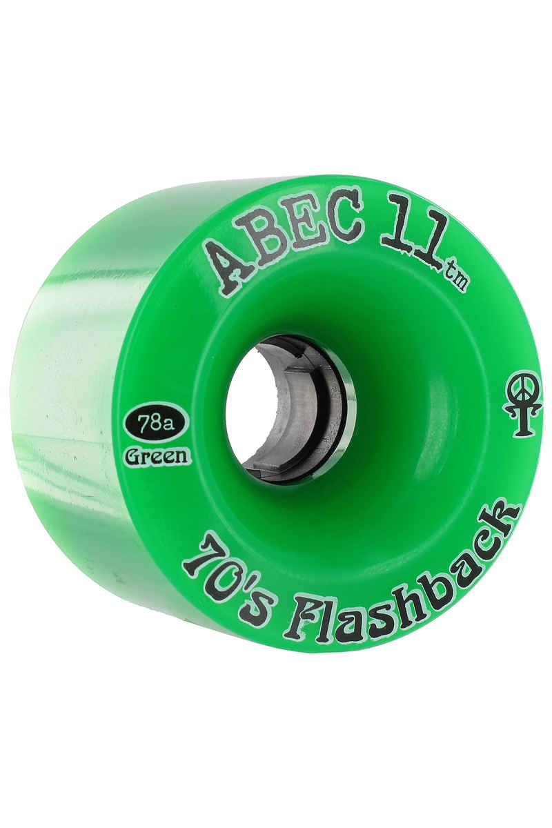 ABEC 11 Flashbacks 70mm 78A Ruote (green) pacco da 4
