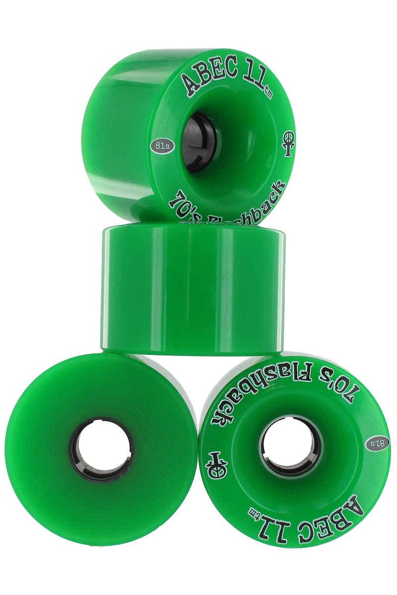 ABEC 11 Flashbacks 70mm 81A Wheels (green) 4 Pack