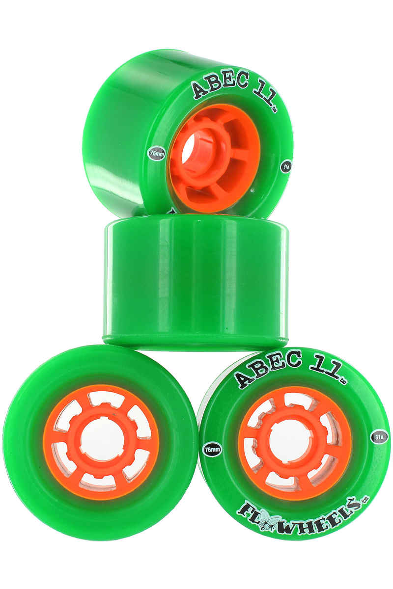 ABEC 11 Flywheels Roue (green) 4 Pack 76mm 81A