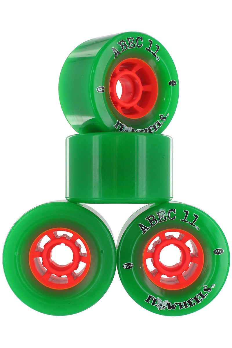 ABEC 11 Flywheels 83mm 81a Roue 4er Pack (green)