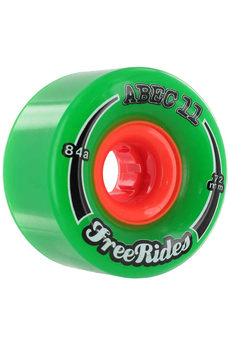 ABEC 11 Classic Freeride Wheels (green) 4 Pack 72mm 84A