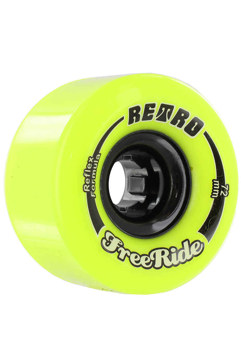 Retro Freeride 72mm 83A Roue (lemon) 4 Pack