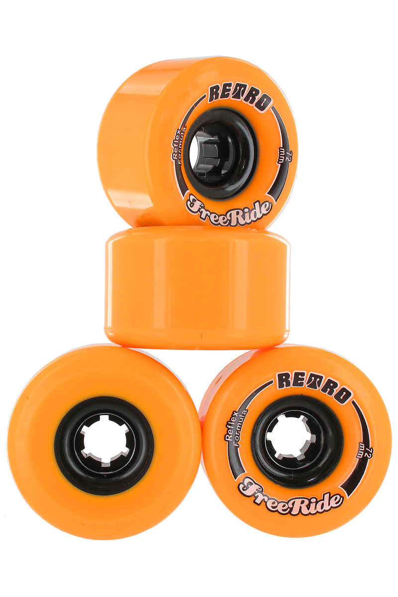 ABEC 11 Retro Freeride Rueda (orange) Pack de 4 72mm 86A