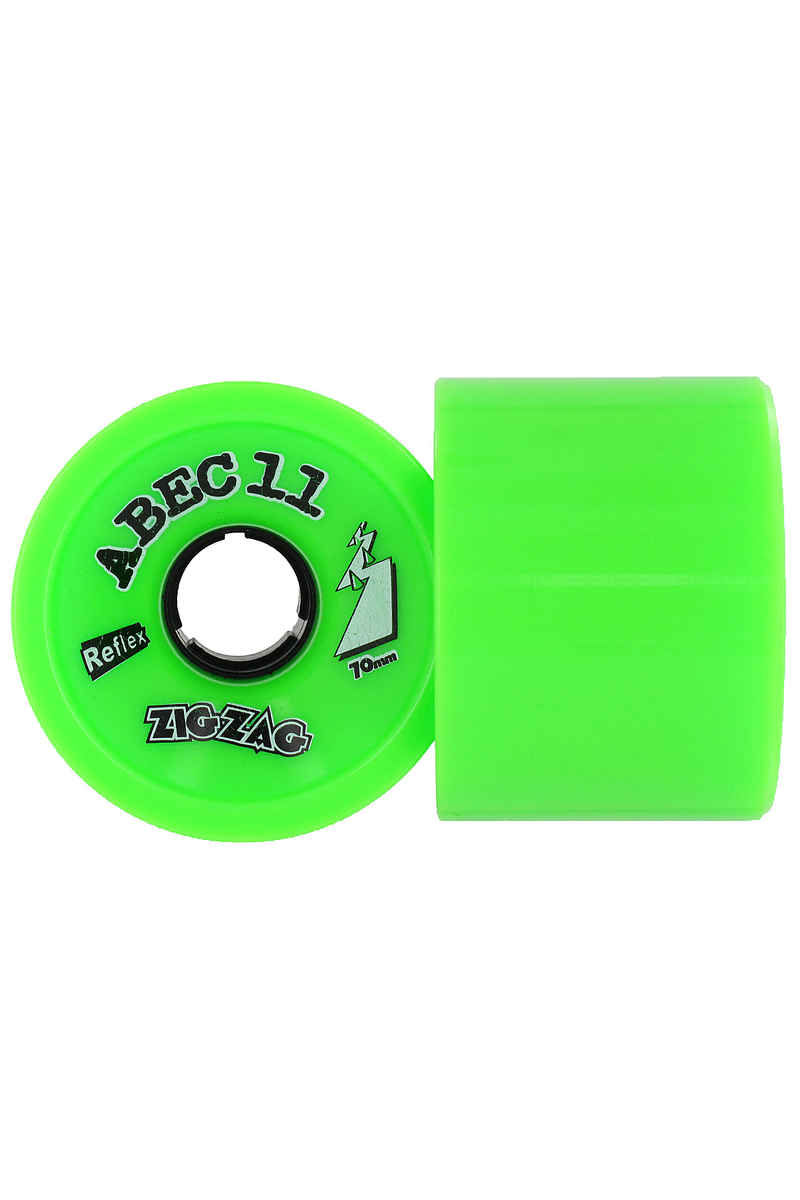 ABEC 11 Retro Zig Zags 70mm 80A Wheels (lime) 2 Pack
