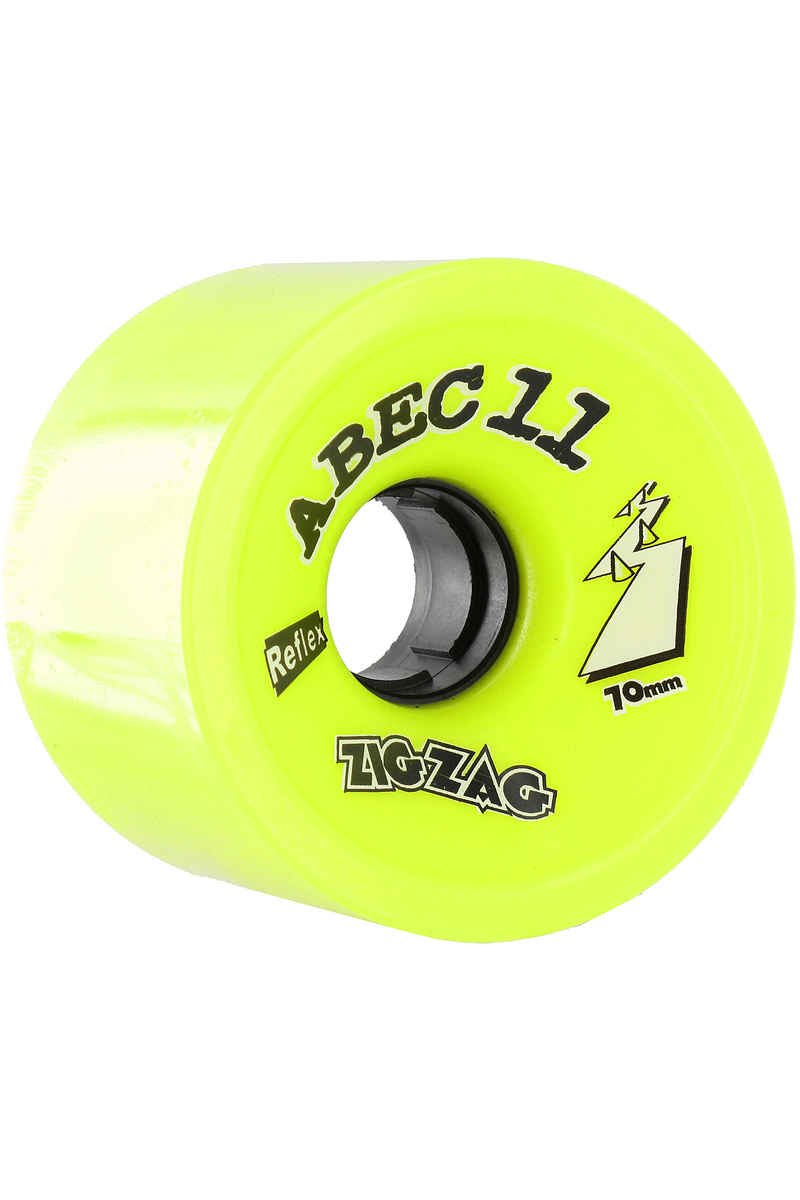 ABEC 11 Retro Zig Zags 70mm 83A Wheel (lemon) 2 Pack