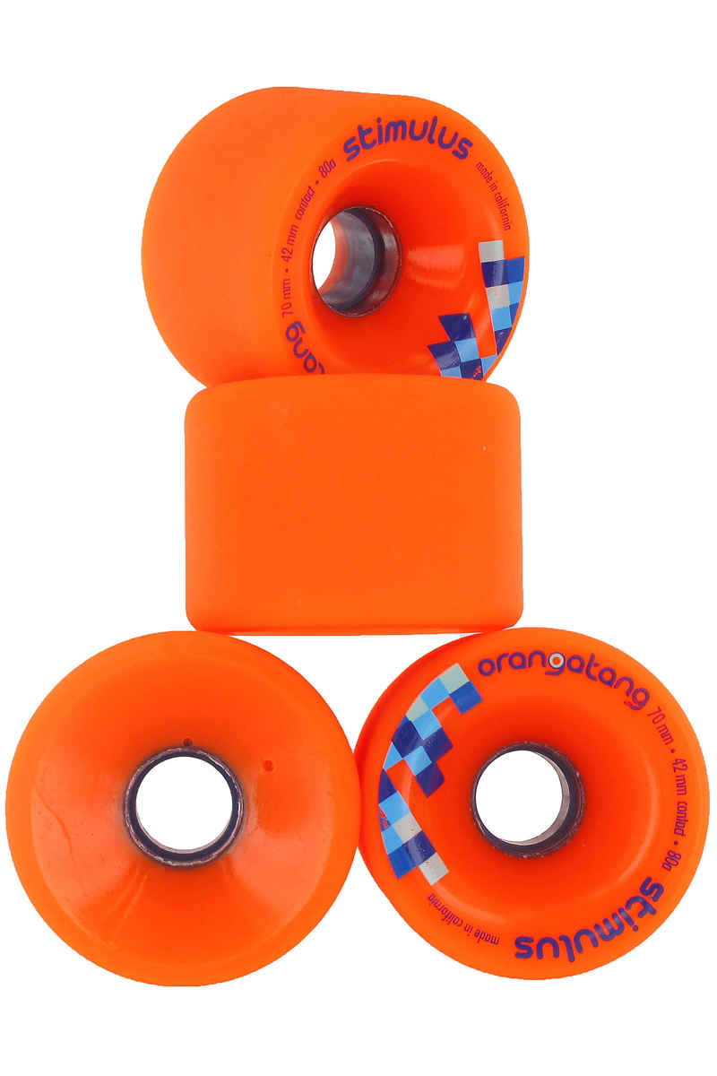 Orangatang Stimulus Wheels (orange) 4 Pack 70mm 80A