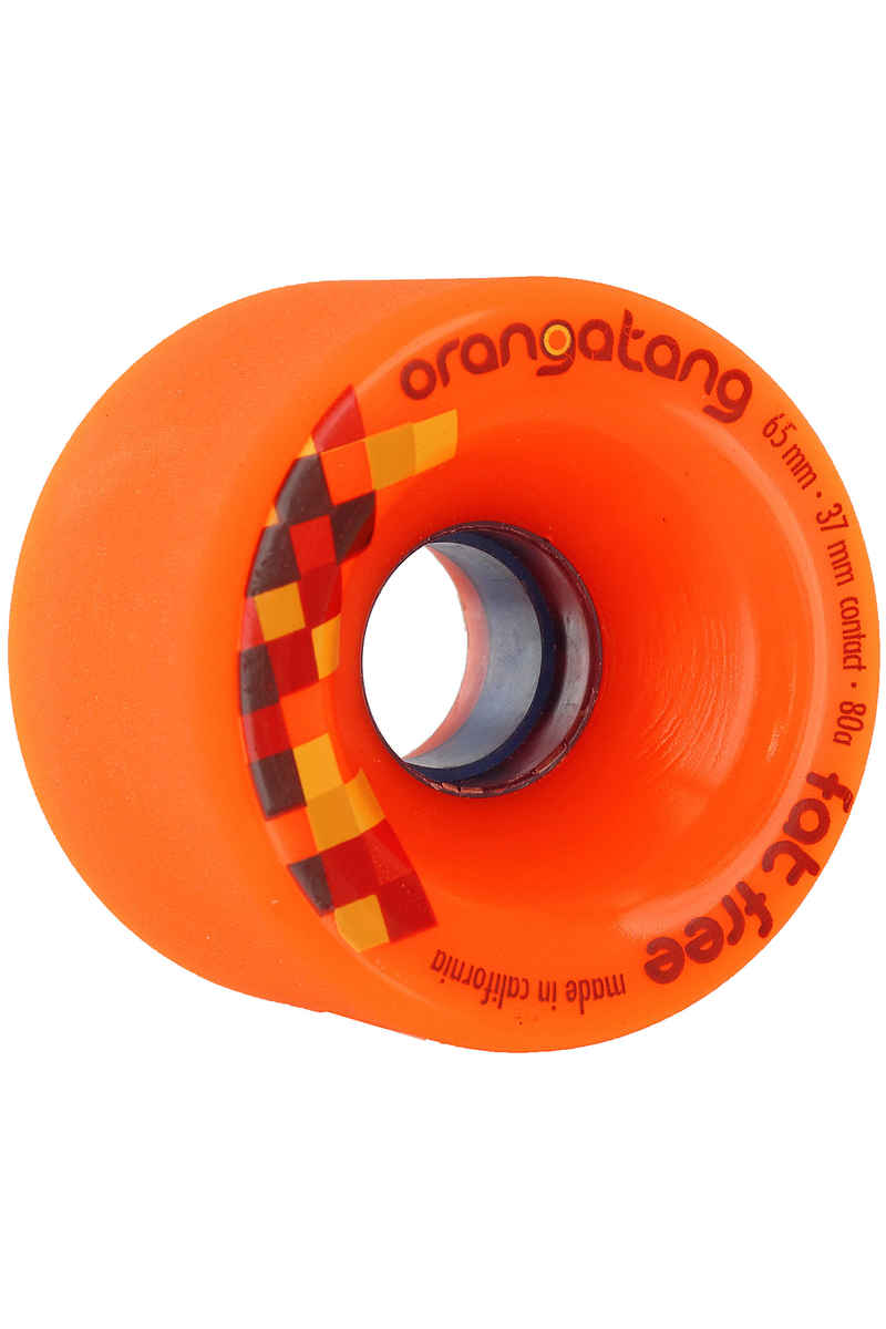 Orangatang Fat Free Roue (orange) 4 Pack 65mm 80A