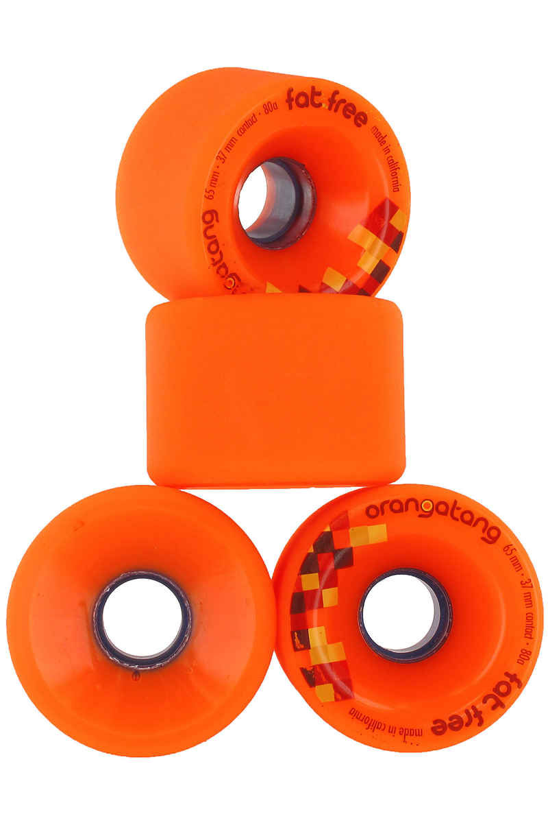 Orangatang Fat Free 65mm 80A Rollen (orange) 4er Pack
