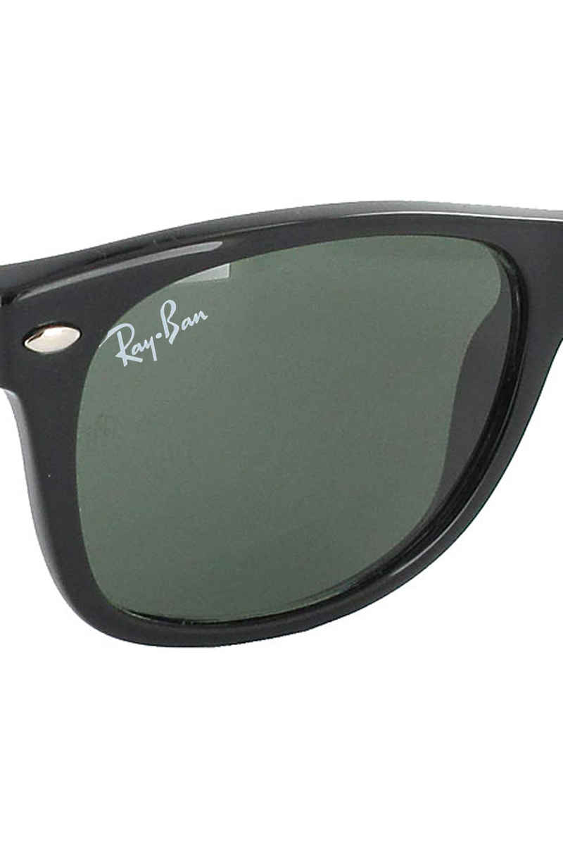 Ray-Ban New Wayfarer Lunettes de soleil 55mm (black rubber green)