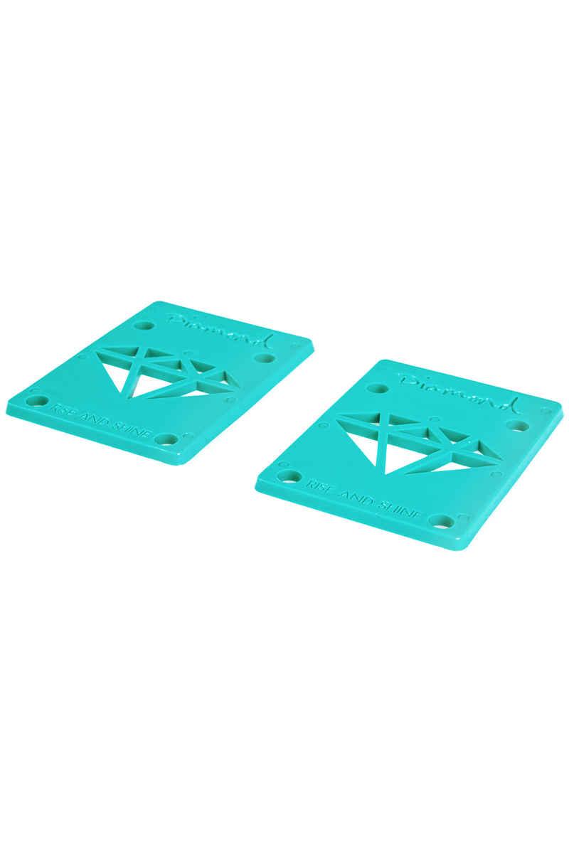 """Diamond 1/8"""" Basic Riser Pads (diamond blue) 2er Pack"""
