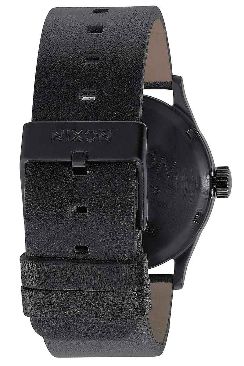 Nixon The Sentry Leather Watch (all black)