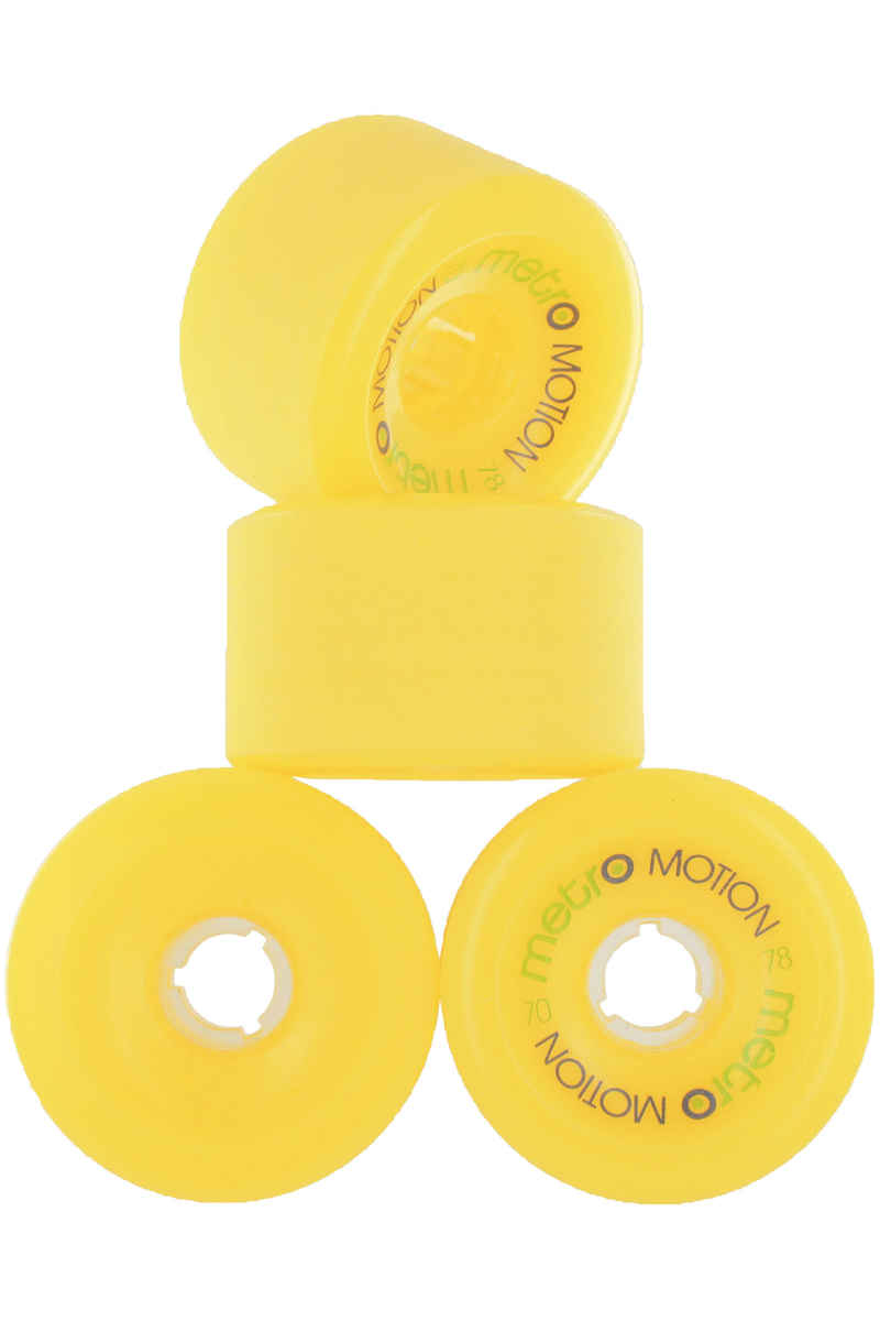 Metro Wheels Motion 70mm 78A Roue (yellow) 4 Pack