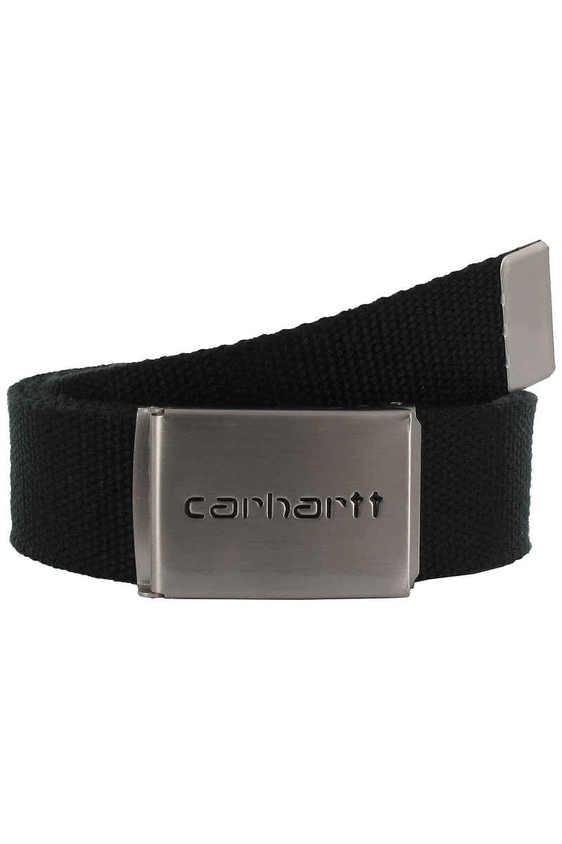 Carhartt WIP Clip Chrome Riem (black)