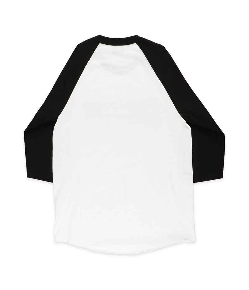 Creature Logo Raglan 3/4 Camiseta de manga larga (white black)