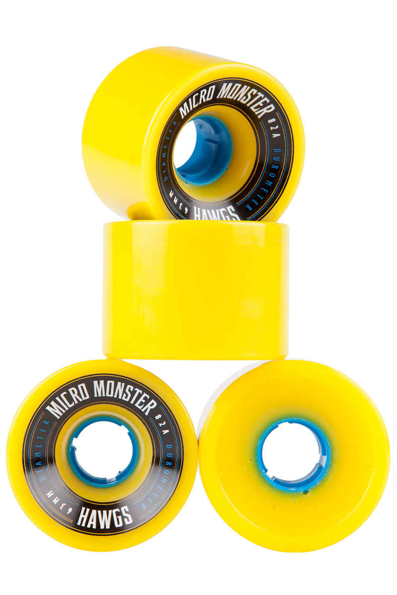 Hawgs Micro Monster Wiel (yellow) 4 Pack 63mm 82A