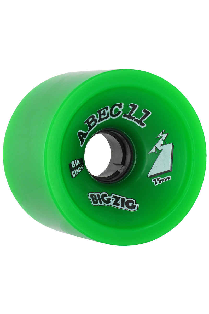 ABEC 11 Big Zigs Classic 75mm 81A Rollen (green) 4er Pack