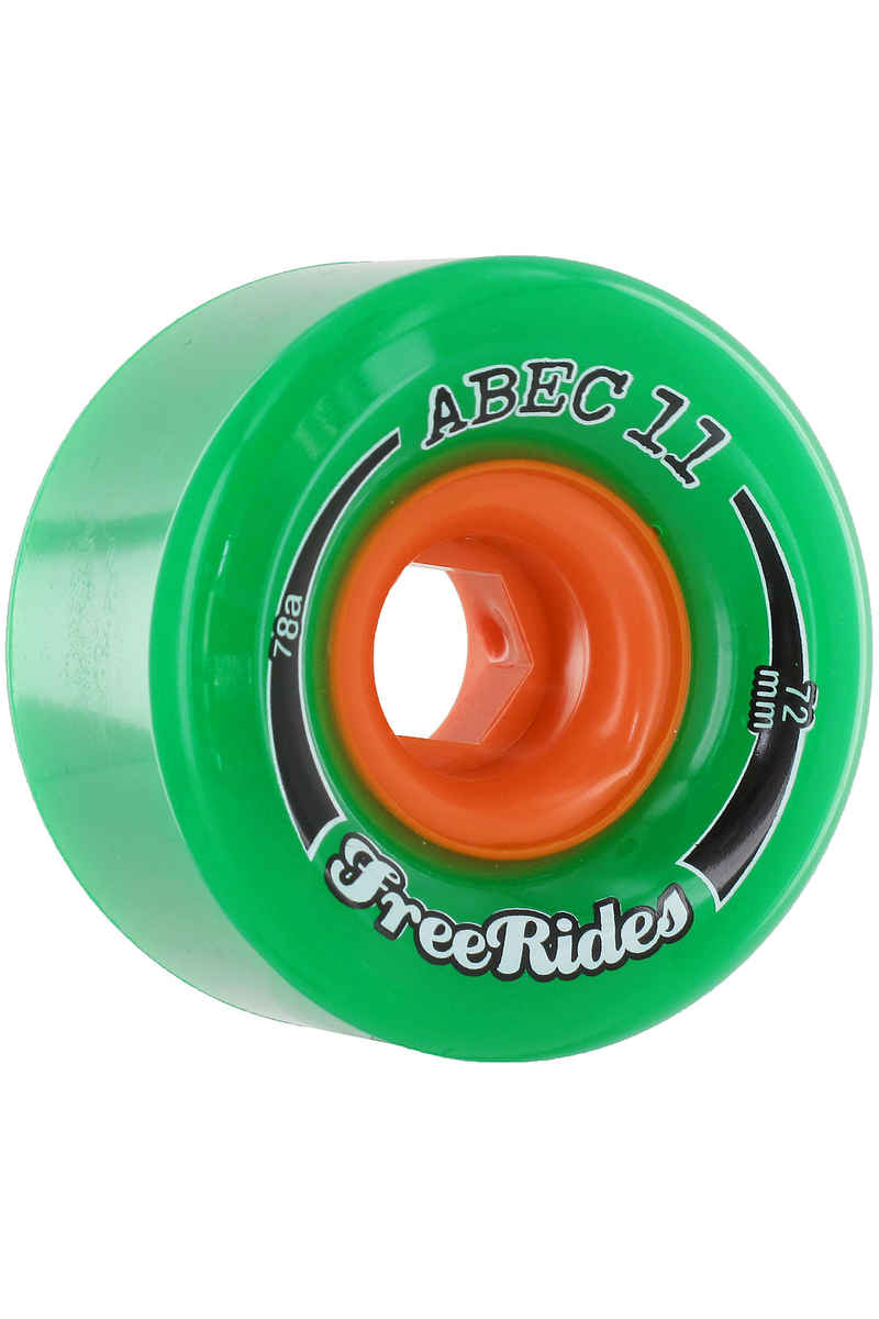 ABEC 11 Classic Freeride 72mm 78A Roue (green) 4 Pack