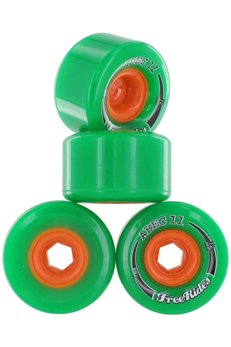 ABEC 11 Classic Freeride Roue (green) 4 Pack 72mm 78A