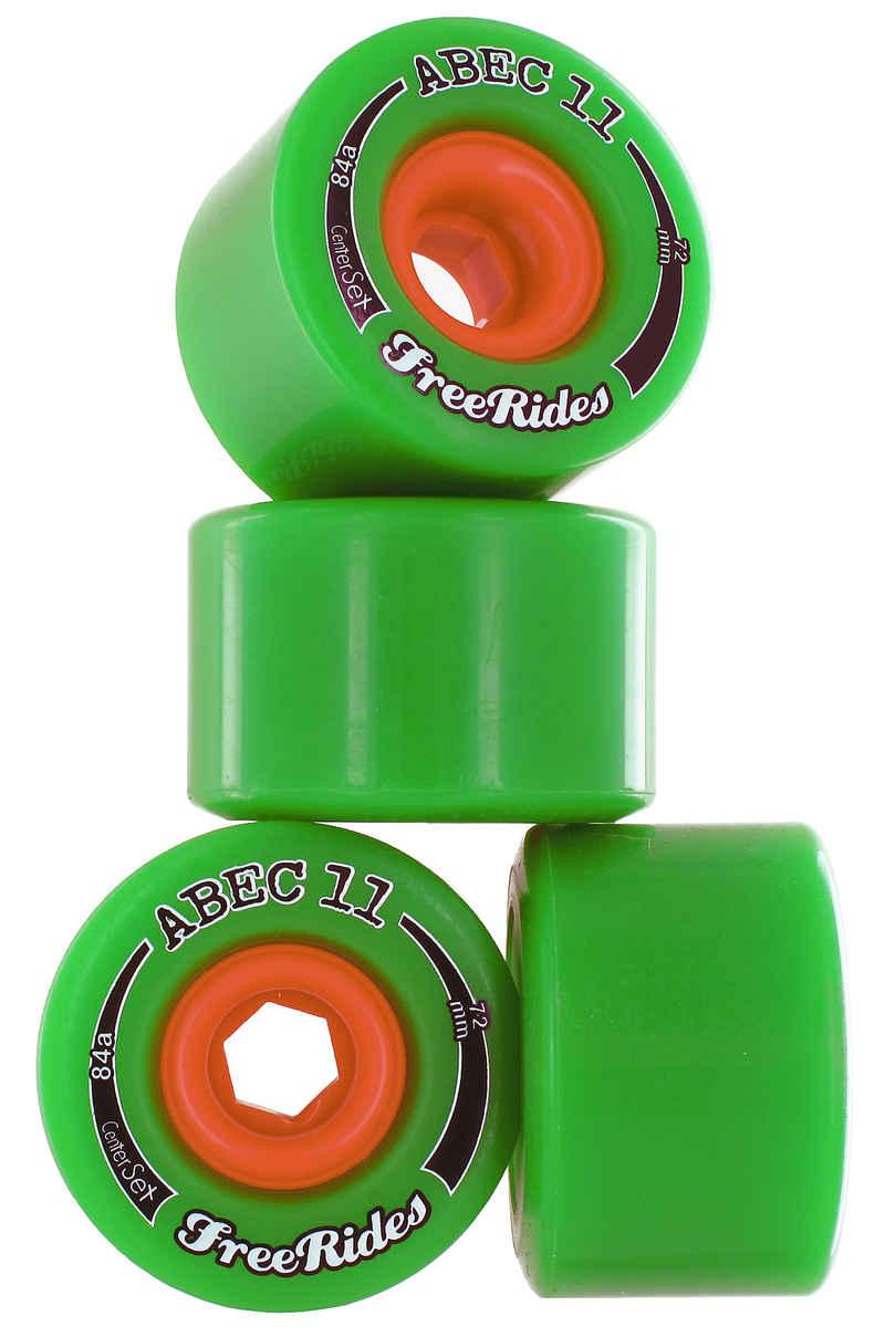 ABEC 11 Centerset Freeride 72mm 84A Rollen (green) 4er Pack
