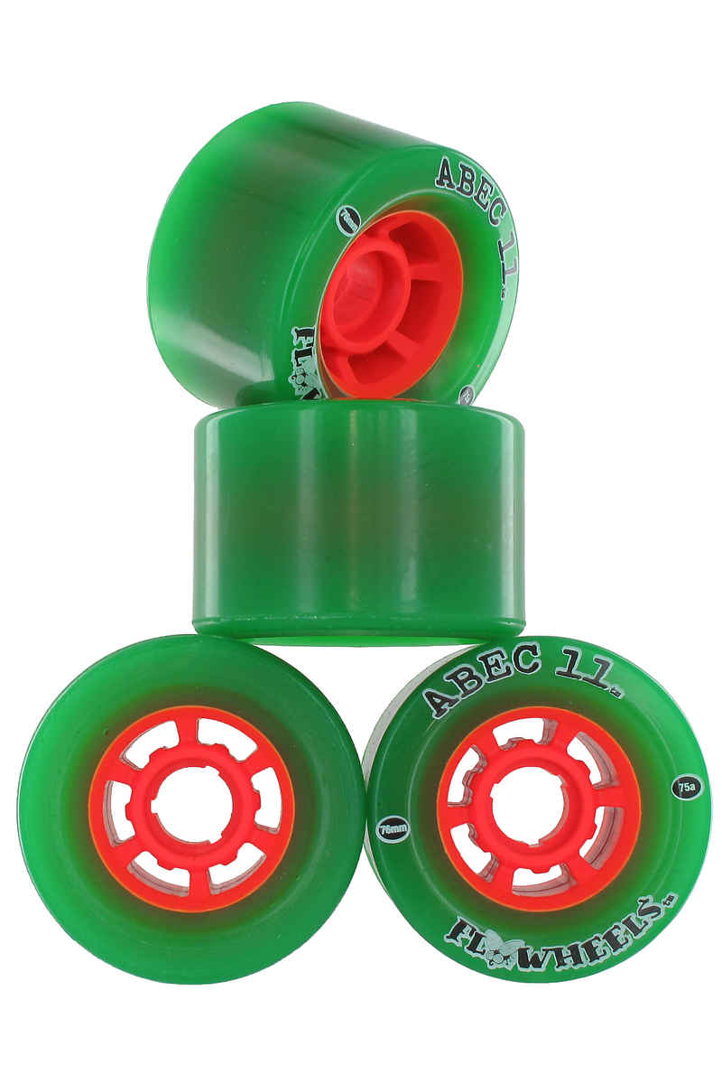 ABEC 11 Flywheels 76mm 75A Roue 4er Pack (green)