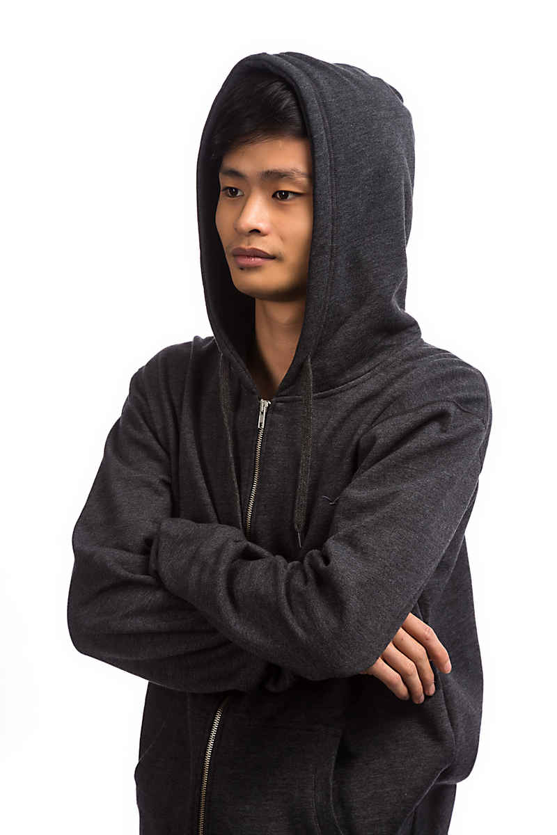 Cleptomanicx Ligull 2 Zip-Hoodie (heather black)