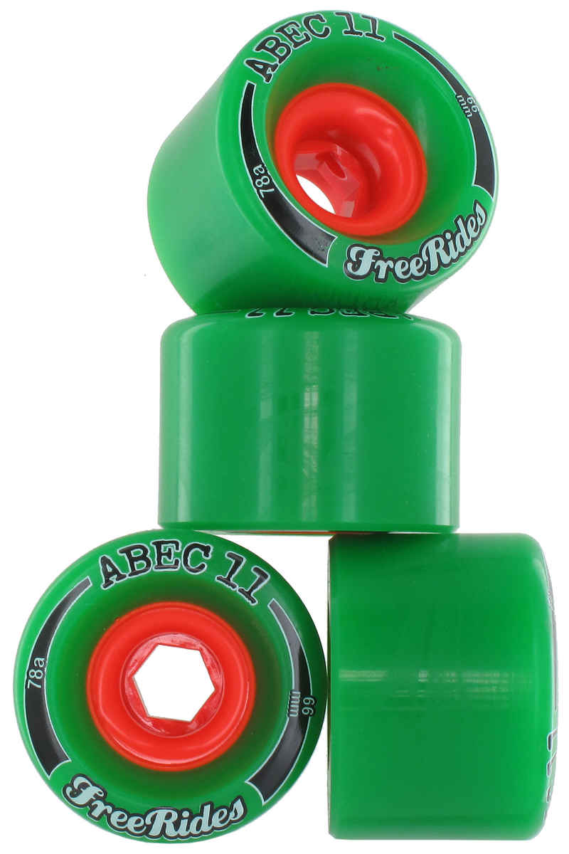 ABEC 11 Classic Freeride Wheels (green) 4 Pack 66mm 78A