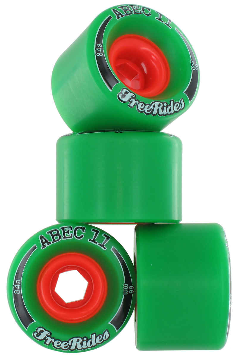 ABEC 11 Classic Freeride Rollen (green) 4er Pack 66mm 84A