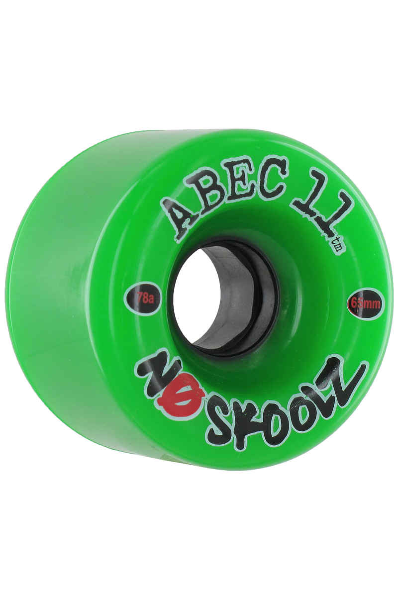 ABEC 11 No Skoolz Rueda (green) Pack de 4 65mm 78A