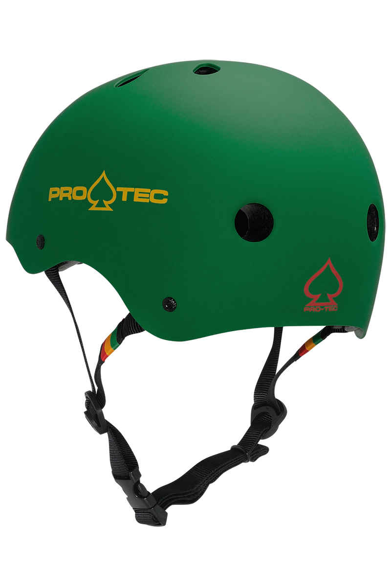 PRO-TEC The Classic Helm (matte rasta green)