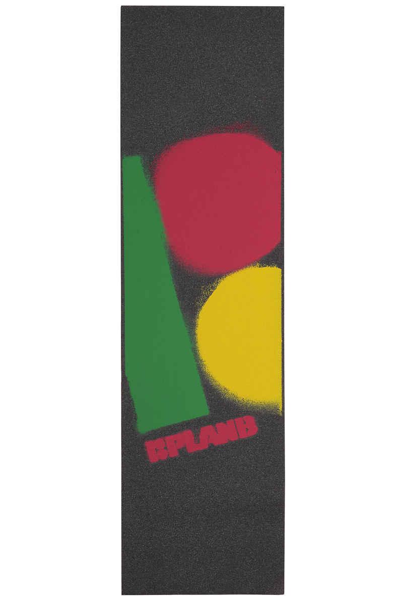 Plan B Stencil Grip Skate (rasta)
