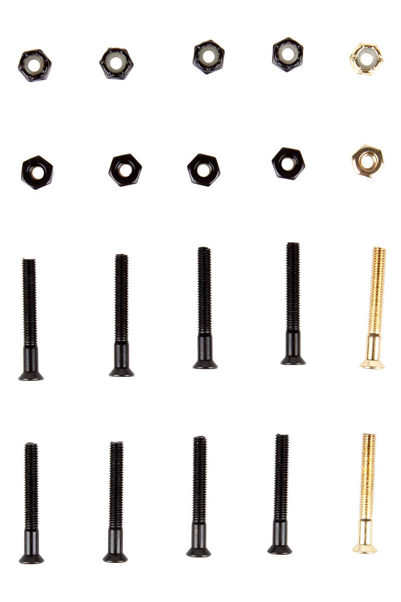 "SK8DLX Premium Bolts 1 1/2"" Set de vis (black gold) Flathead (tête fraisée) cross slot"