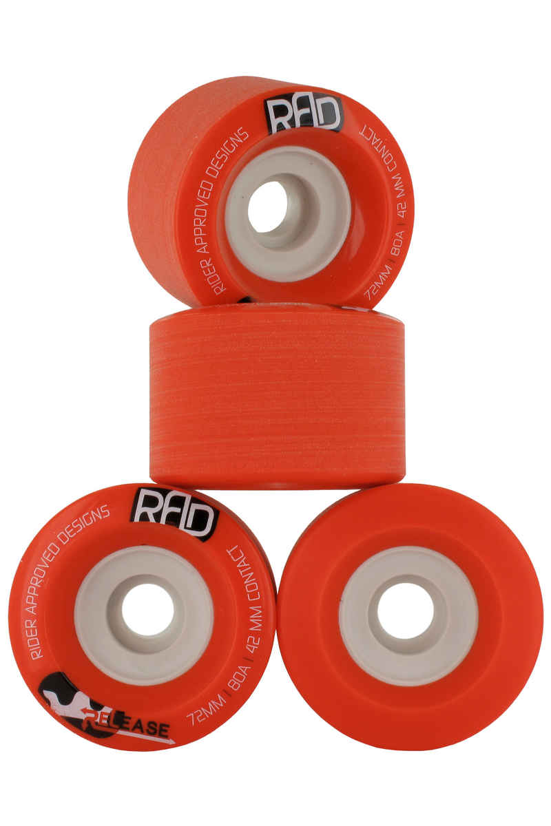 R.A.D. Release Roue (red) 4 Pack 72mm 80A