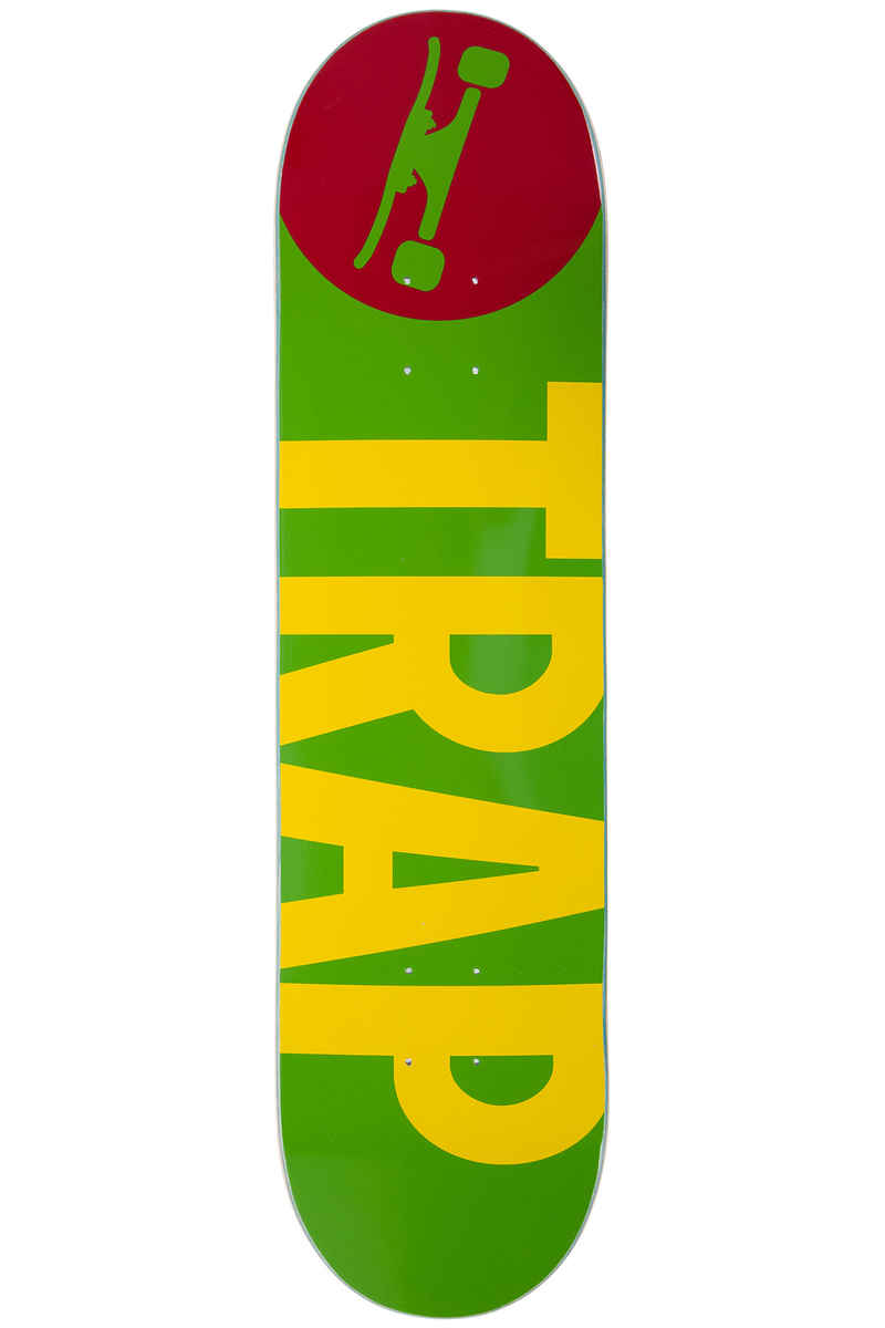 "Trap Skateboards Big Logo 7.875"" Deck (rasta)"