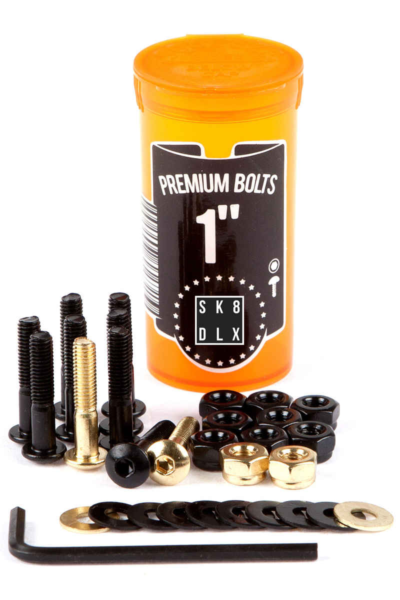 "SK8DLX Premium Bolts 1"" Set de vis (black gold) Raised Head (fillister) allen"