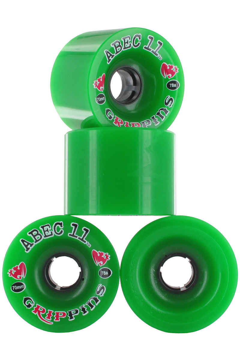 ABEC 11 Grippins Wiel (green) 4 Pack 70mm 78A