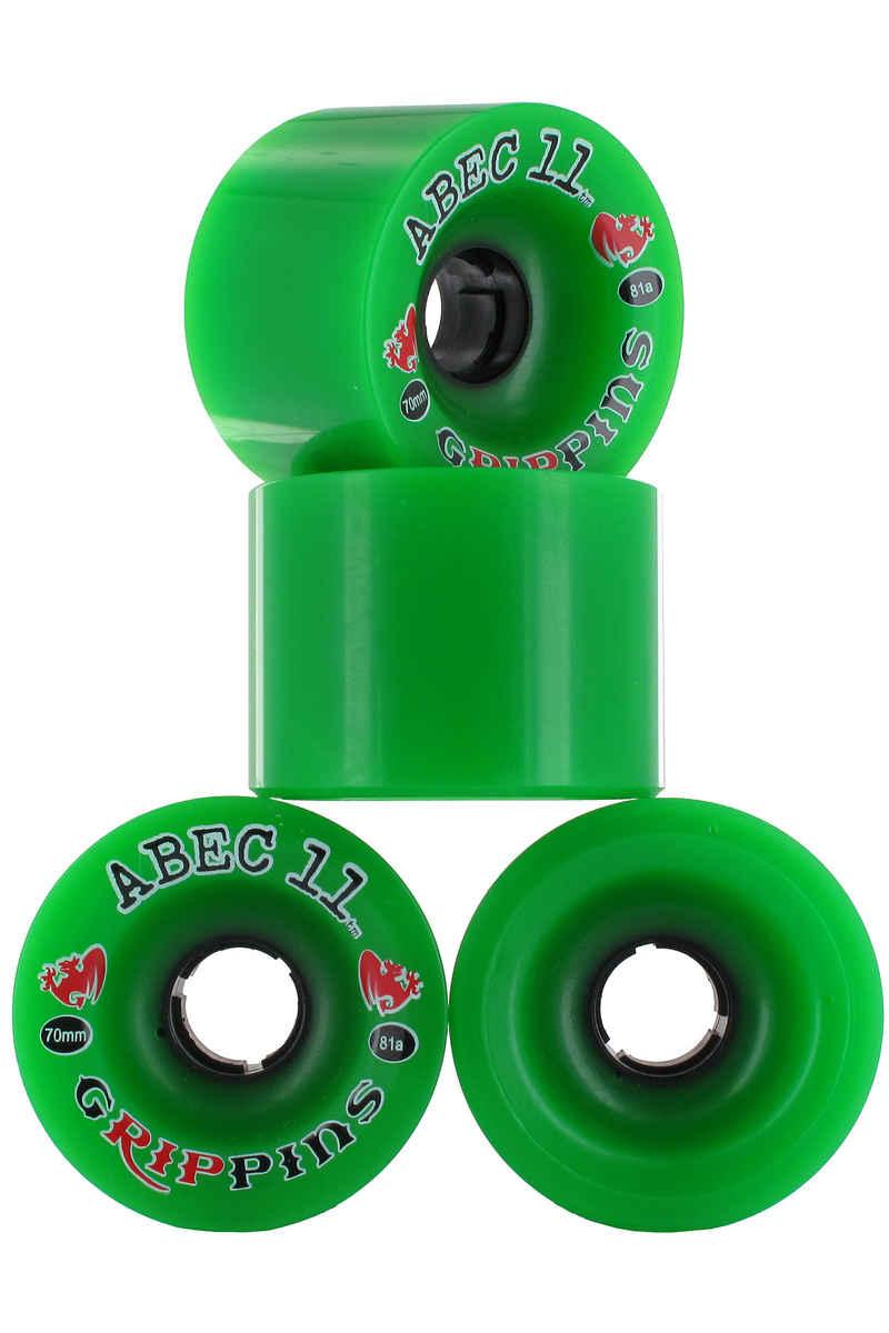ABEC 11 Grippins Ruote pacco da 4 70mm 81A