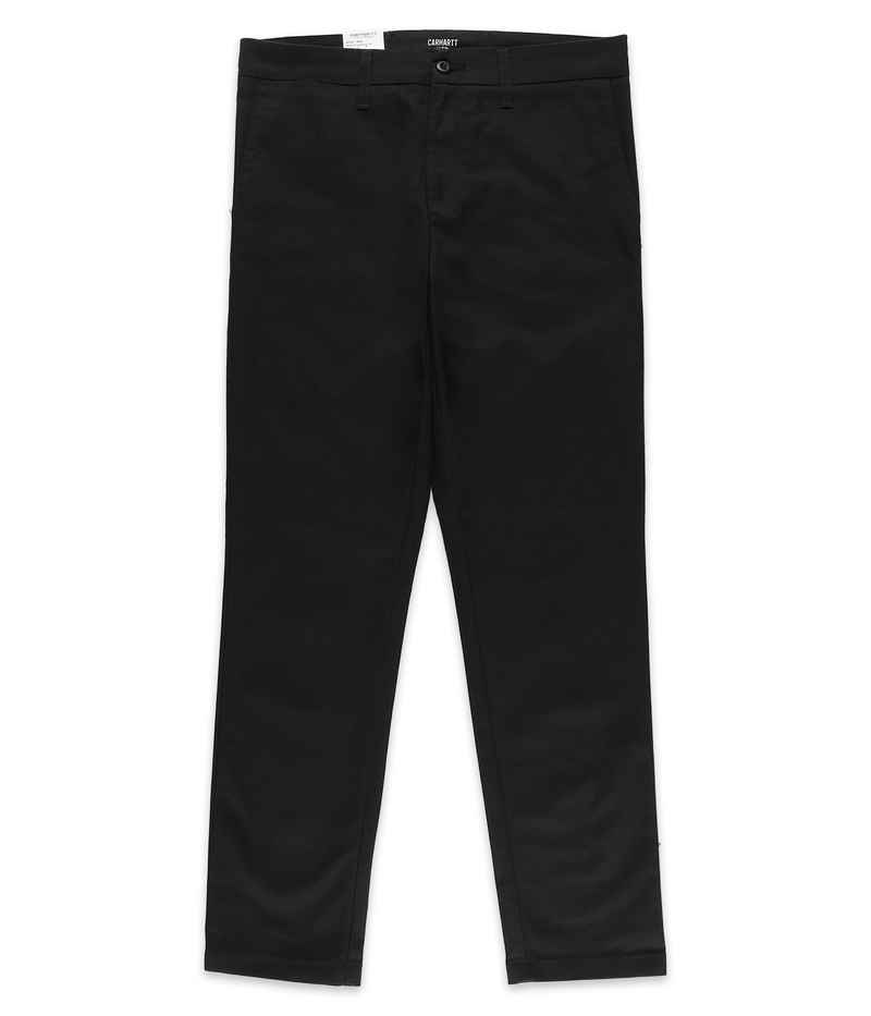 Carhartt WIP Sid Pant Lamar Pantalones (black rinsed)