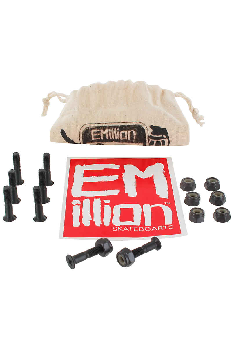 "EMillion Bolt Ya Nuts 7/8"" Set de vis inkl. Beutel (black) Flathead (tête fraisée) cross slot"