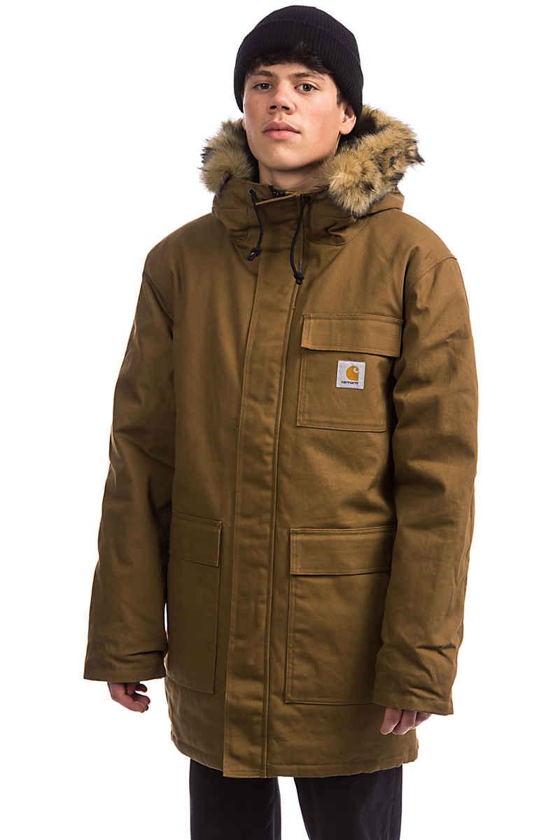 Carhartt WIP Siberian Parka Jacket (hamilton brown rigid)