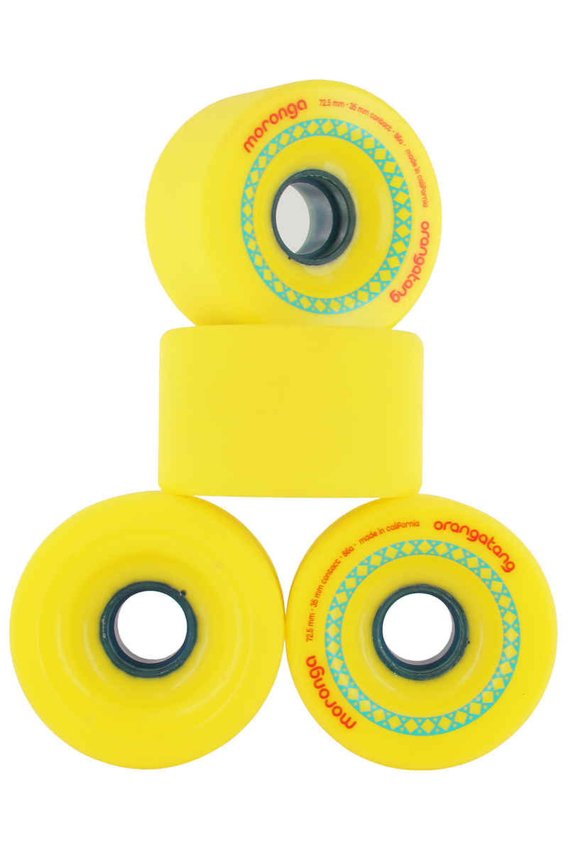 Orangatang Moronga Rollen (yellow) 4er Pack 73mm 86A