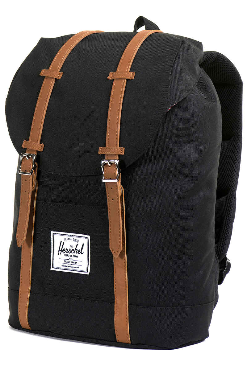 herschel retreat backpack 19 5l black tan buy at skatedeluxe. Black Bedroom Furniture Sets. Home Design Ideas
