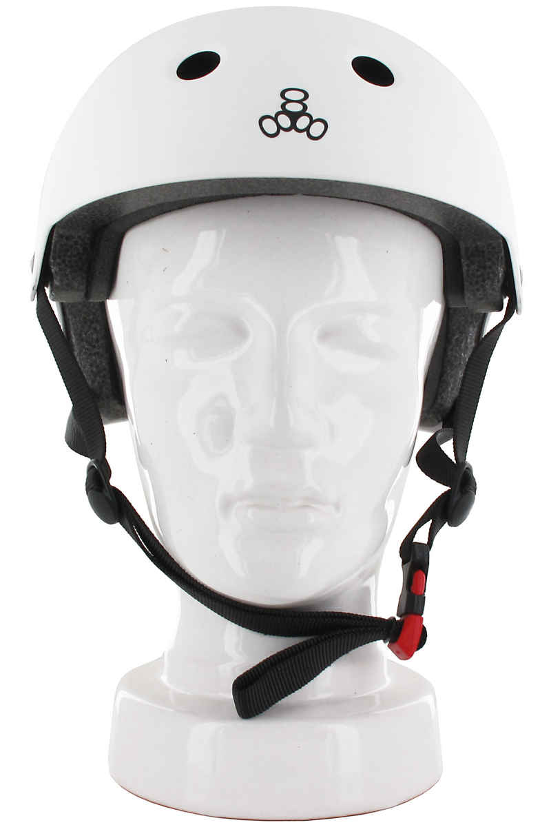 Triple Eight Brainsaver Helmet (white rubber)